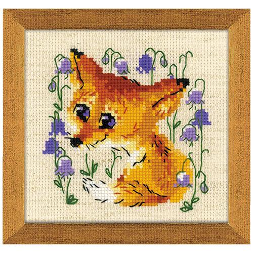 1776 Набор для вышивания Риолис 'Маленький лисенок' 15*20см
