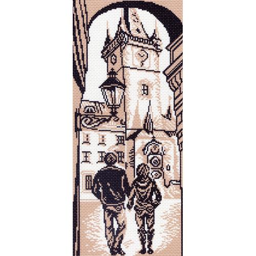 1431 Канва с рисунком 'Матренин посад' 'Городская ратуша', 24*47 см