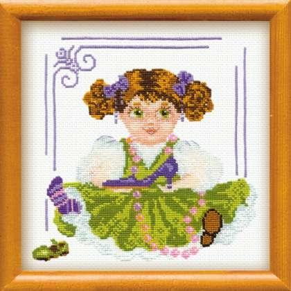 803 Набор для вышивания Риолис 'Кукла с туфелькой', 20x20см