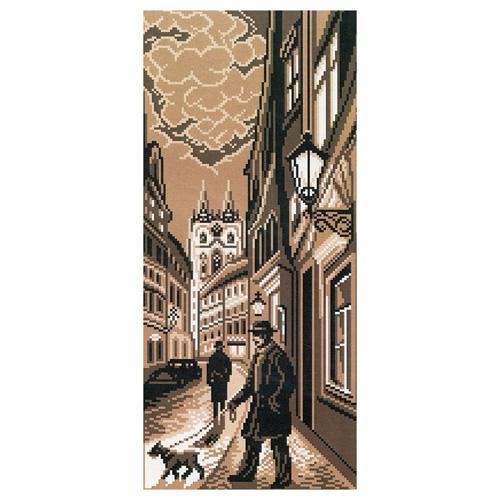 1432 Канва с рисунком 'Матренин Посад' 'Старый город', 24*47 см