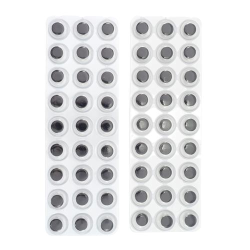 AS05-28, Глазки для игрушек на клеевой основе, 12мм, 2 блистера/упак