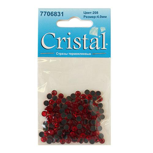 Стразы термоклеевые, 4мм, ss16, 144 шт/уп, Cristyle