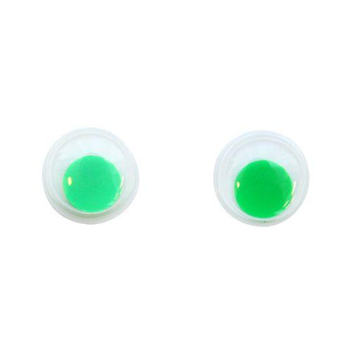 TEY-008 Глаза бегающие 10мм, зеленые