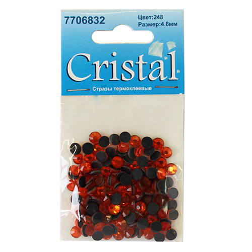 Стразы термоклеевые, 4,8 мм, ss20, 144 шт/уп, Cristyle