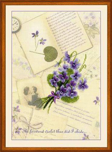 РТ-0039 Набор для вышивания Riolis 'Письма о любви. Фиалки', 21*30 см