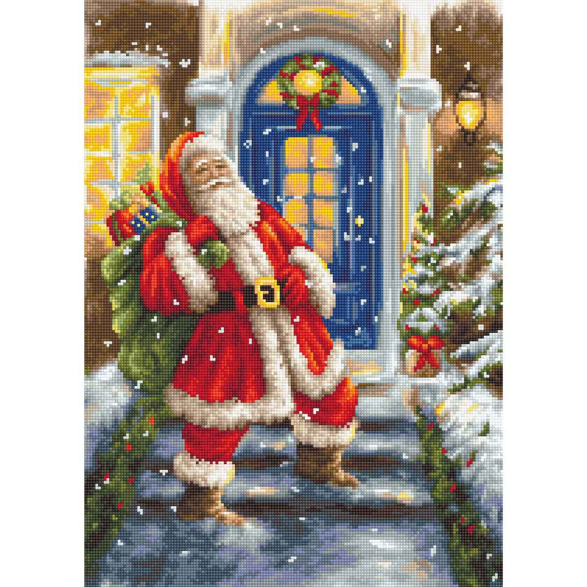 B563 Набор для вышивания 'Дед Мороз' 24*33,5 см, Luca-S