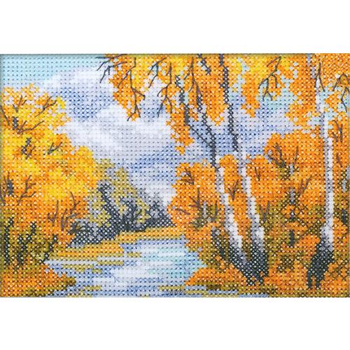 EH342 Набор для вышивания RTO 'Рыжая осень', 11х7,5 см