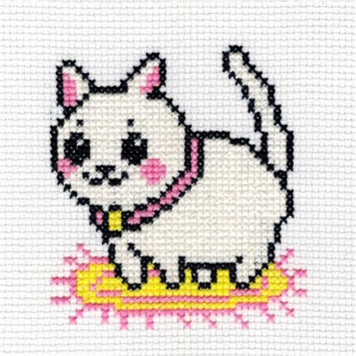 5004 Набор для вышивания'Котик' 8х8 см
