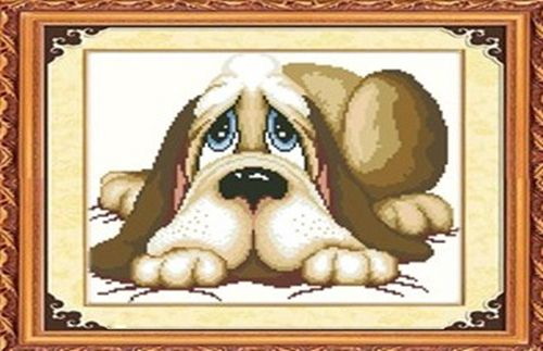 7227 Мозаика Cristal 'Грустный пес', 40*35 см