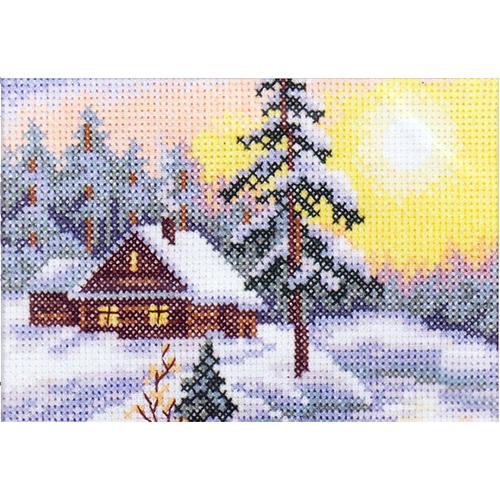 EH344 Набор для вышивания RTO 'Морозное утро', 11х7,5 см