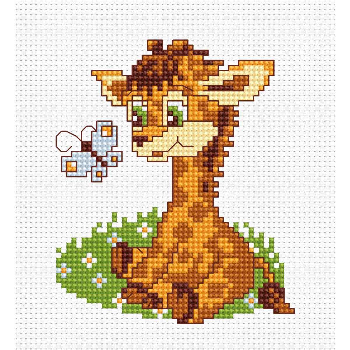 B044 Набор для вышивания 'Моя первая вышивка. Жираф' 8,5*10 см, Luca-S