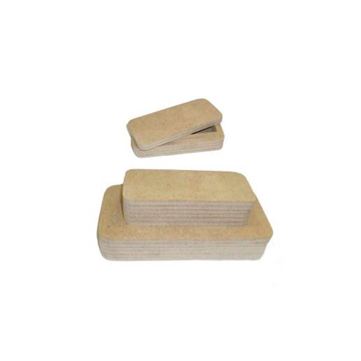 AH6140136 Заготовка из МДФ ' Купюрница и монетница', набор из 2-х штук, 19х10х3,5 см. 14х6х3,5 см