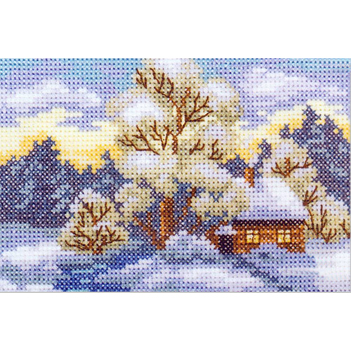 EH345 Набор для вышивания RTO 'Дом на опушке', 11х7,5 см