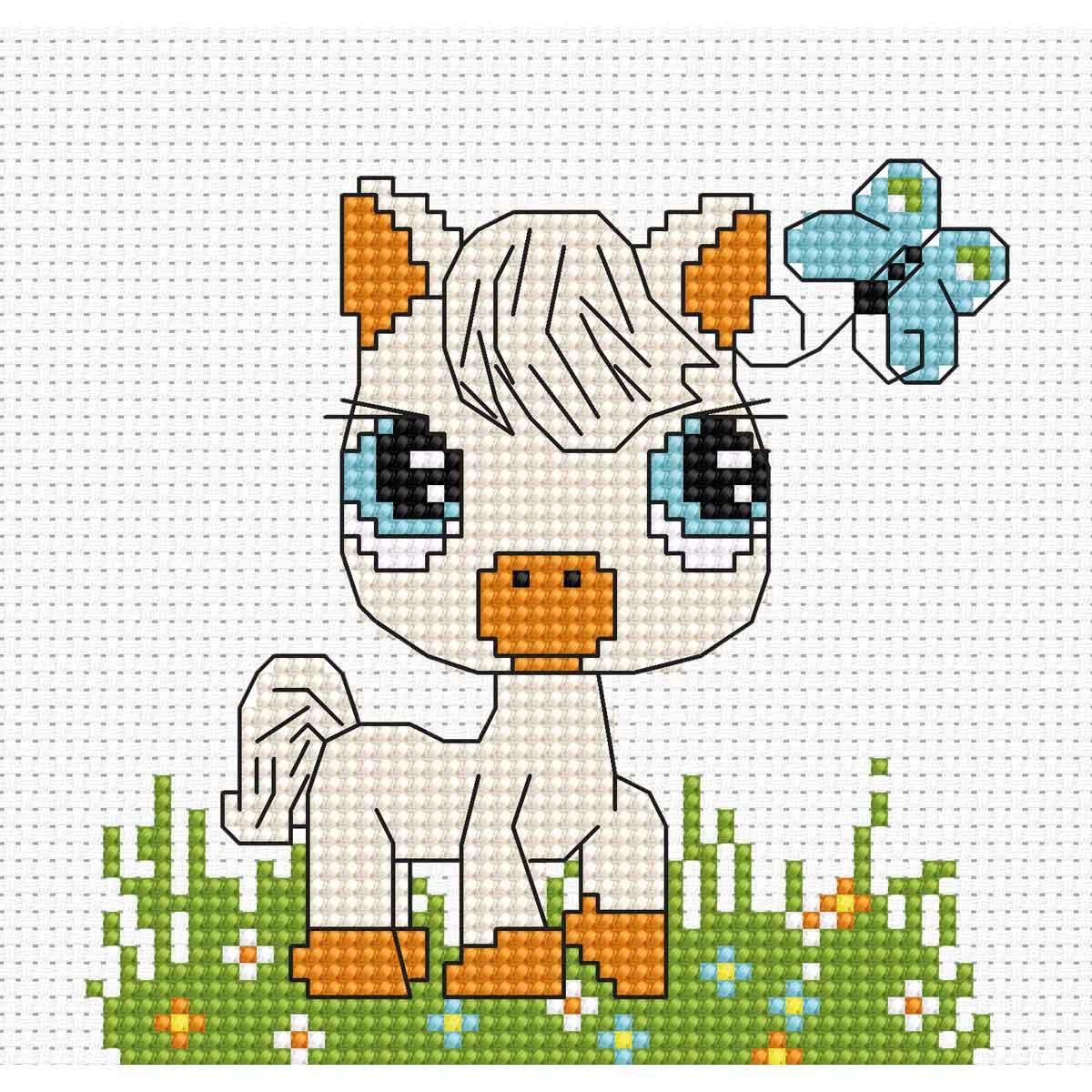 B045 Набор для вышивания 'Моя первая вышивка. Лошадка' 10*9,5 см, Luca-S