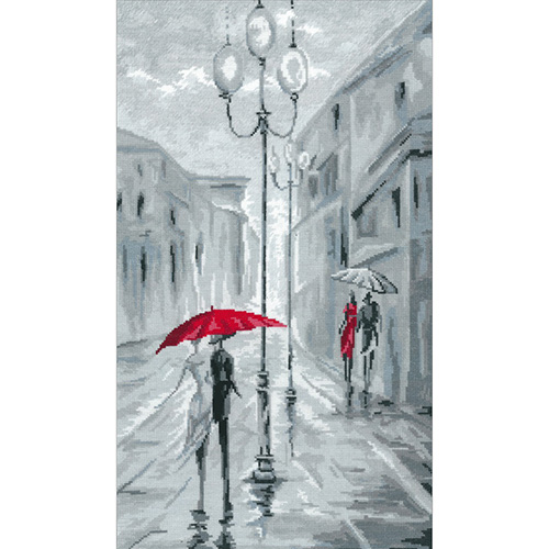 0274 Набор для вышивания 'Прогулка под дождем' 23*39 см
