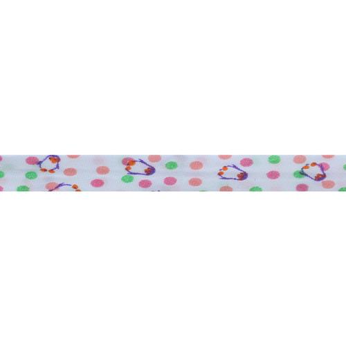Косая бейка с детским принтом 'Пингвинчики' 15мм*54,9м (100% хб)