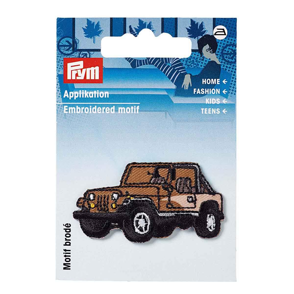 923144 Термоаппликация 'Джип' коричневый/черный 1шт Prym