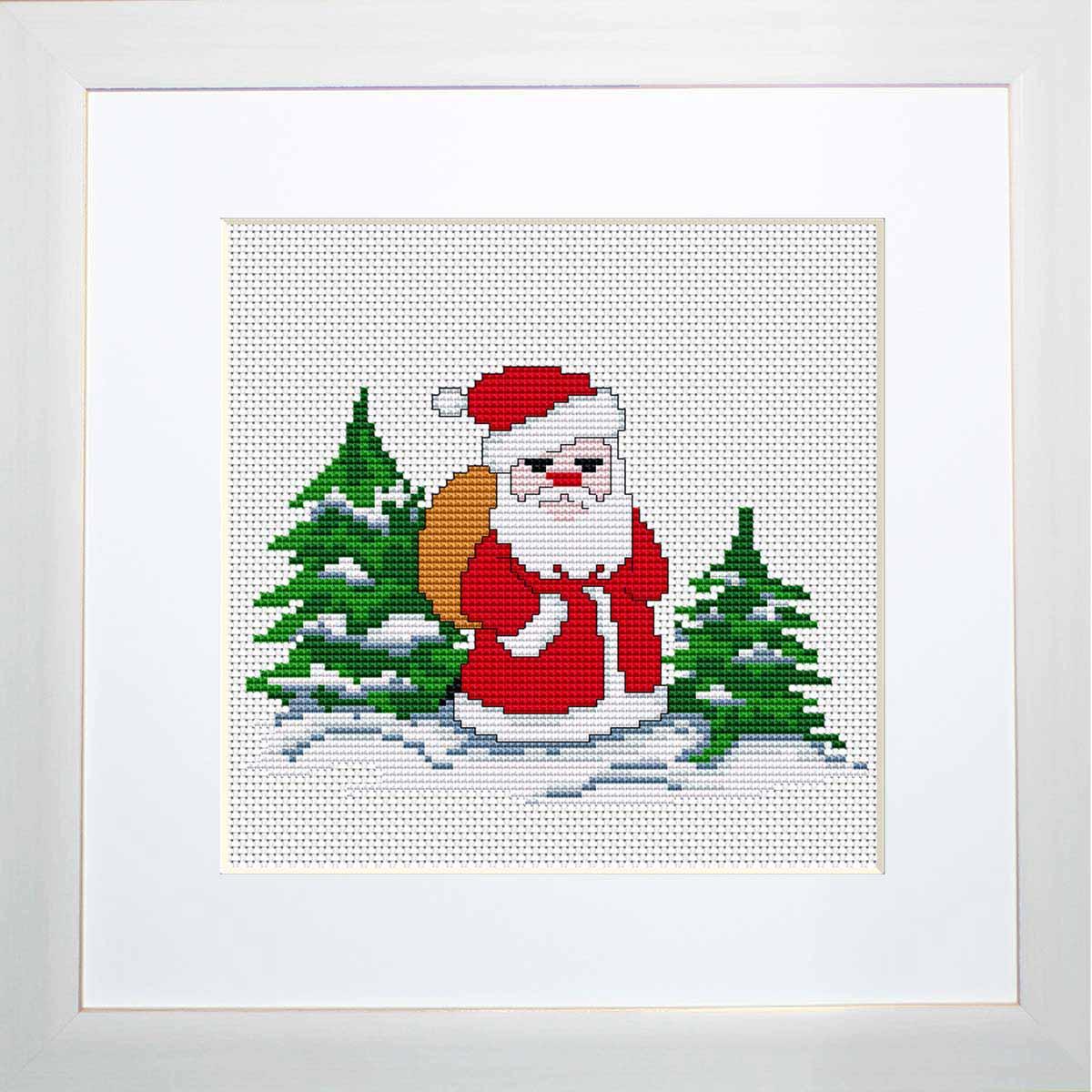 B1068 Набор для вышивания 'Моя первая вышивка. Дед Мороз' , Luca-S