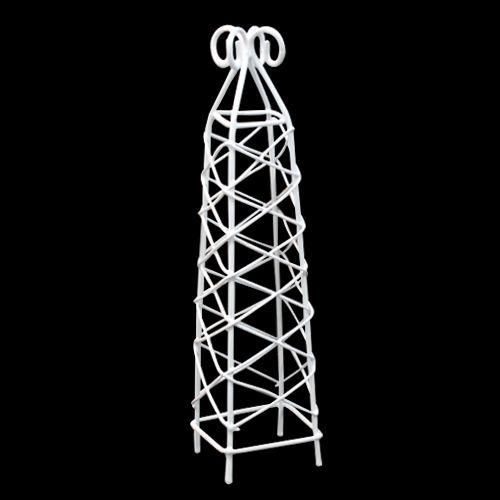 SCB271021 Металлическая мини башенка, белая, 3,5*14 см, ScrapBerry's