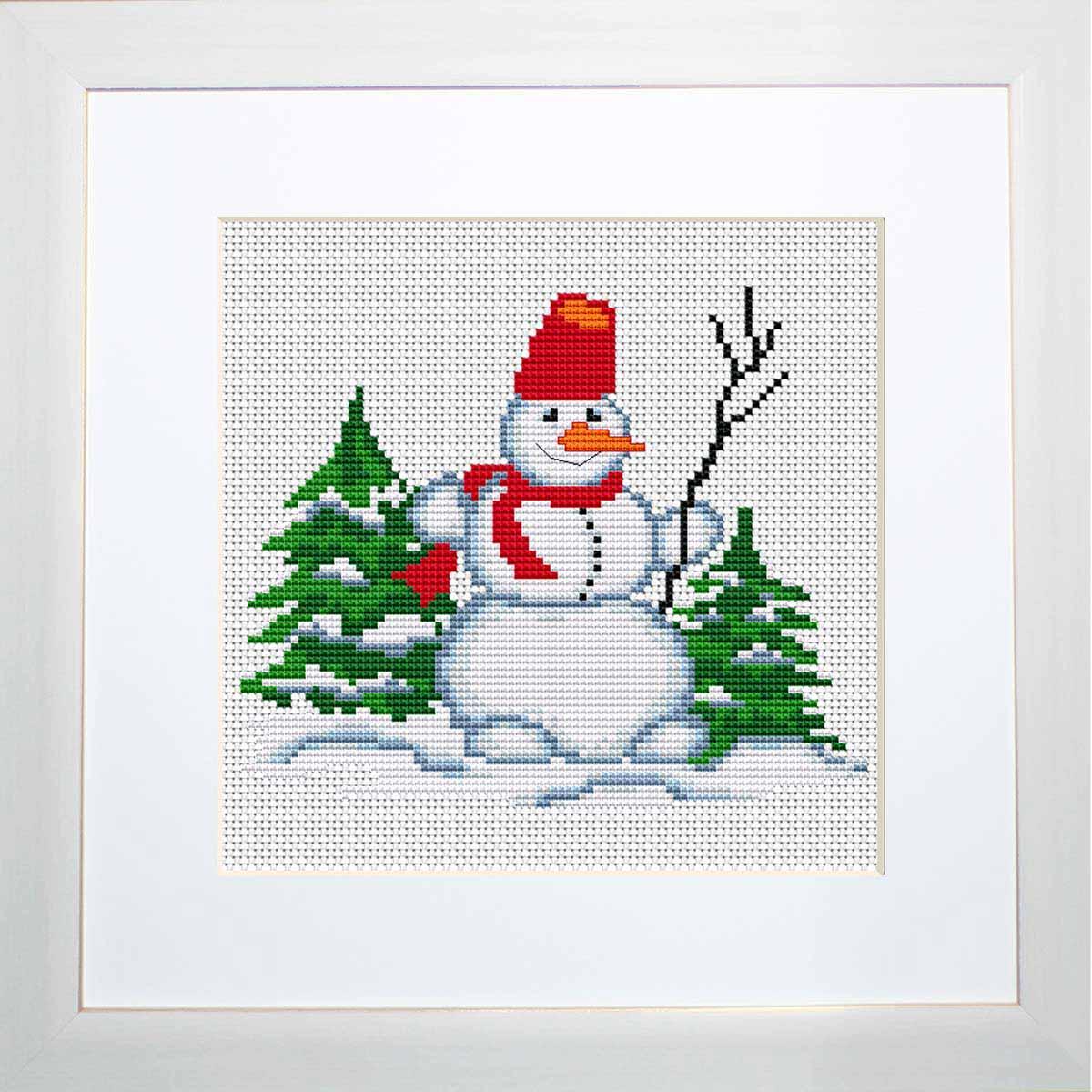 B1069 Набор для вышивания 'Моя первая вышивка. Снеговичок' , Luca-S
