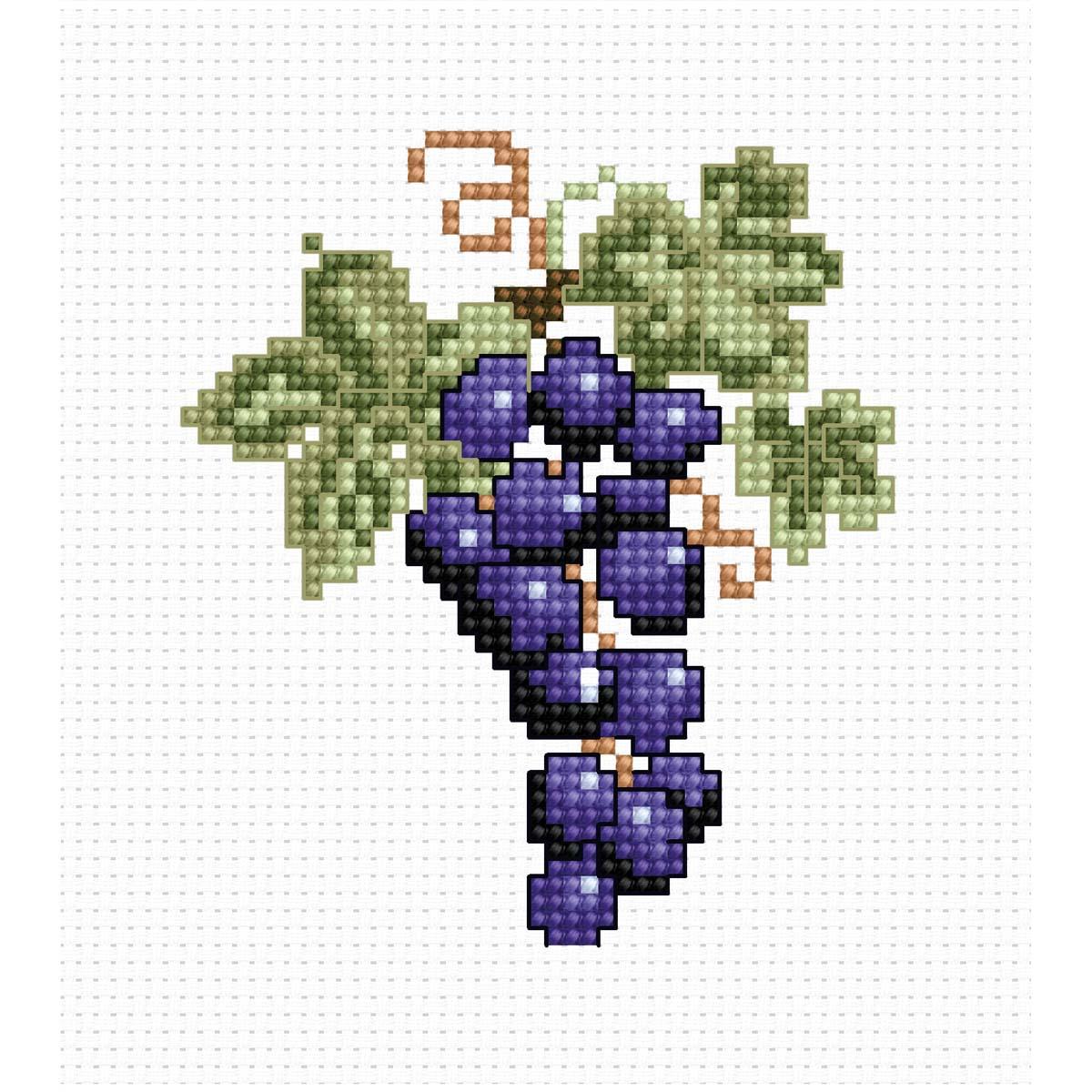 B029 Набор для вышивания 'Моя первая вышивка. Виноград' 7.5*8.5 см, Luca-S