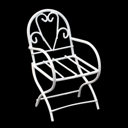 SCB271025 Металлический мини стул, белый, 4*7,5 см, ScrapBerry's