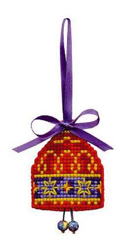 1540АС Набор для рукоделия Riolis новогодняя игрушка 'Колокольчик', 5,5*6,5 см