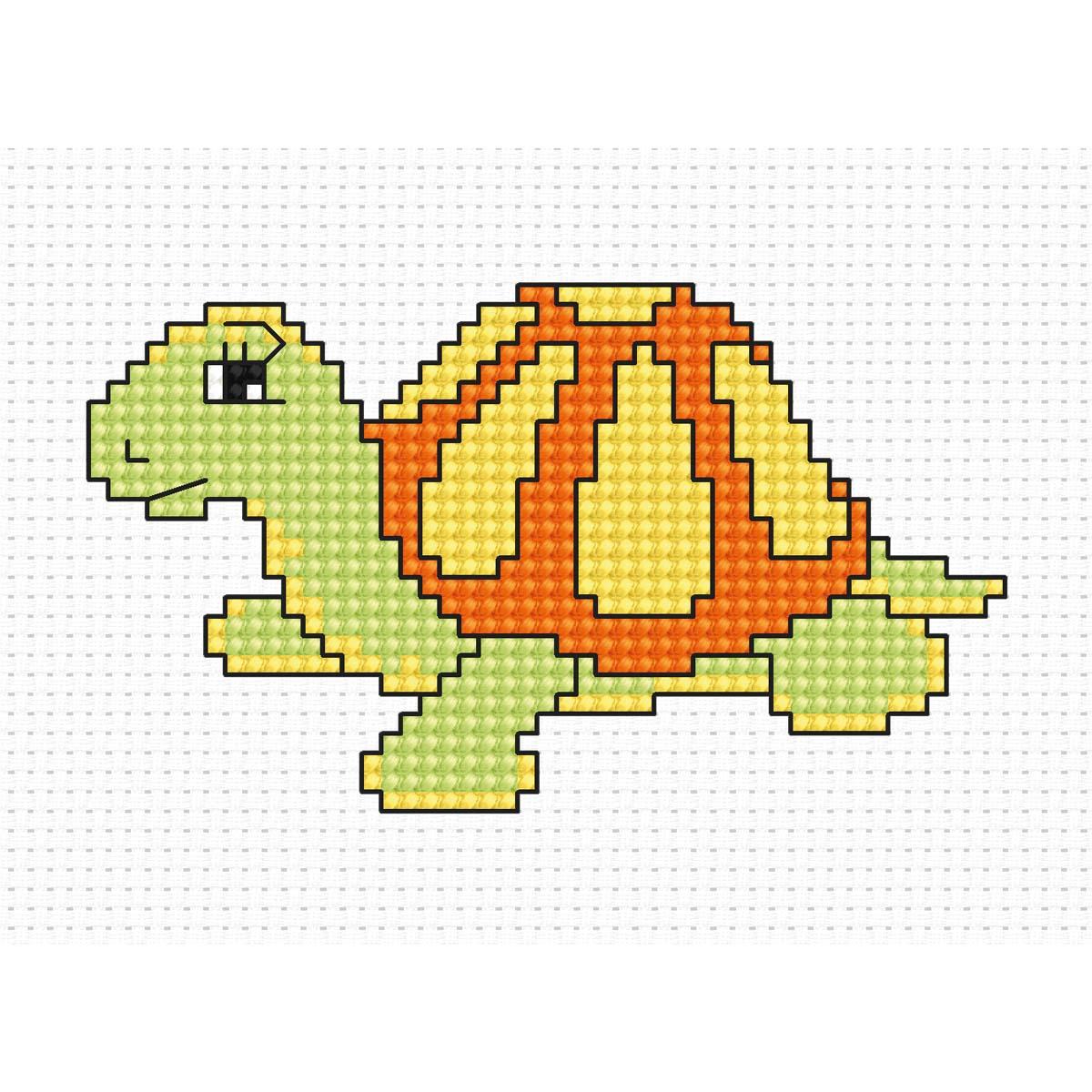 B067 Набор для вышивания 'Моя первая вышивка. Черепаха' 13*9 см, Luca-S