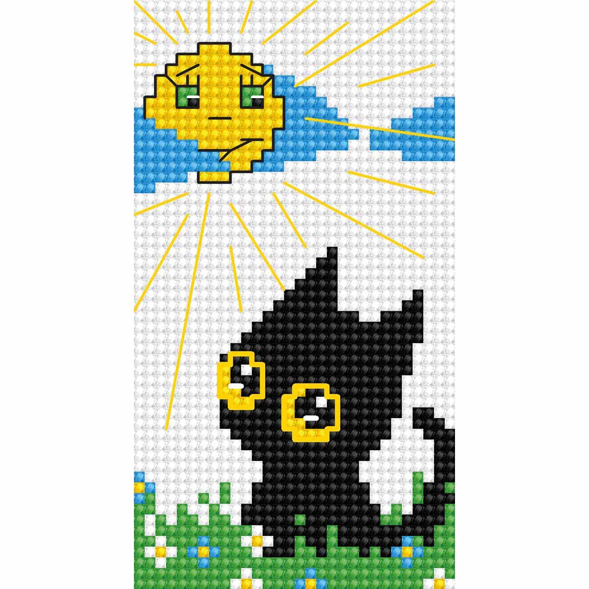 B068 Набор для вышивания 'Моя первая вышивка. Котик' 5,5*10 см, Luca-S