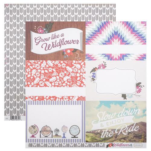 CBWD22009 Бумага 30*30 см 4x6 Journaling Cards