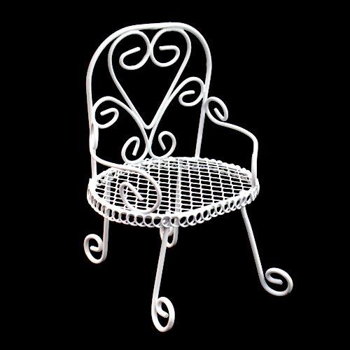 SCB271030 Металлический круглый мини-стул, белый, 8*6*5 см, ScrapBerry's