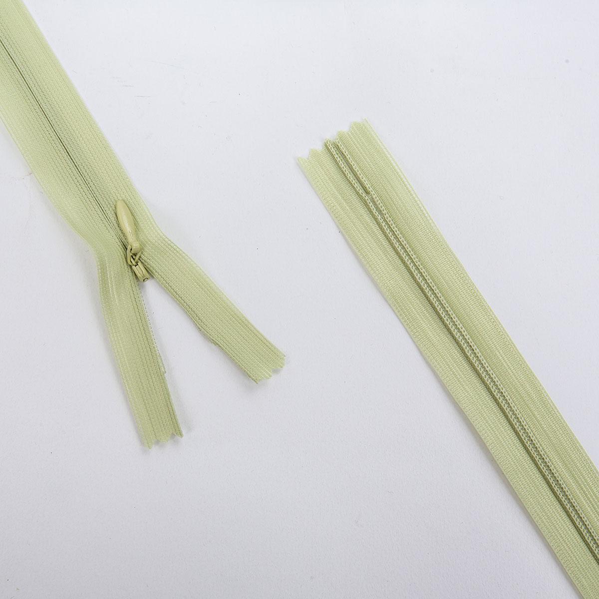 Молния потайная, зеленый, 50см, 31300/50