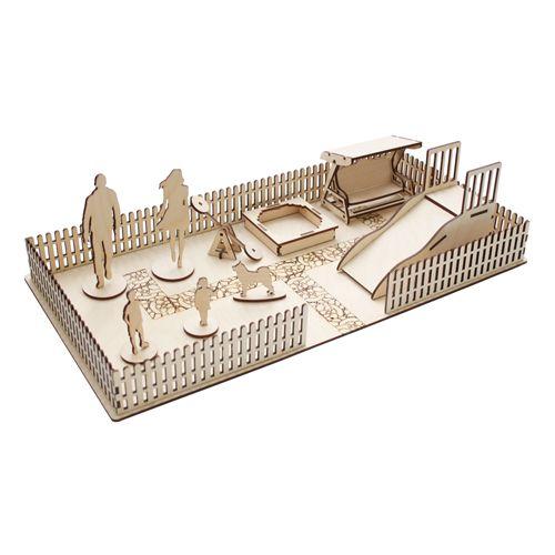 L-524 Деревянная заготовка набор 'Детская площадка' (10 предметов), 21,8*43 см, 'Астра'