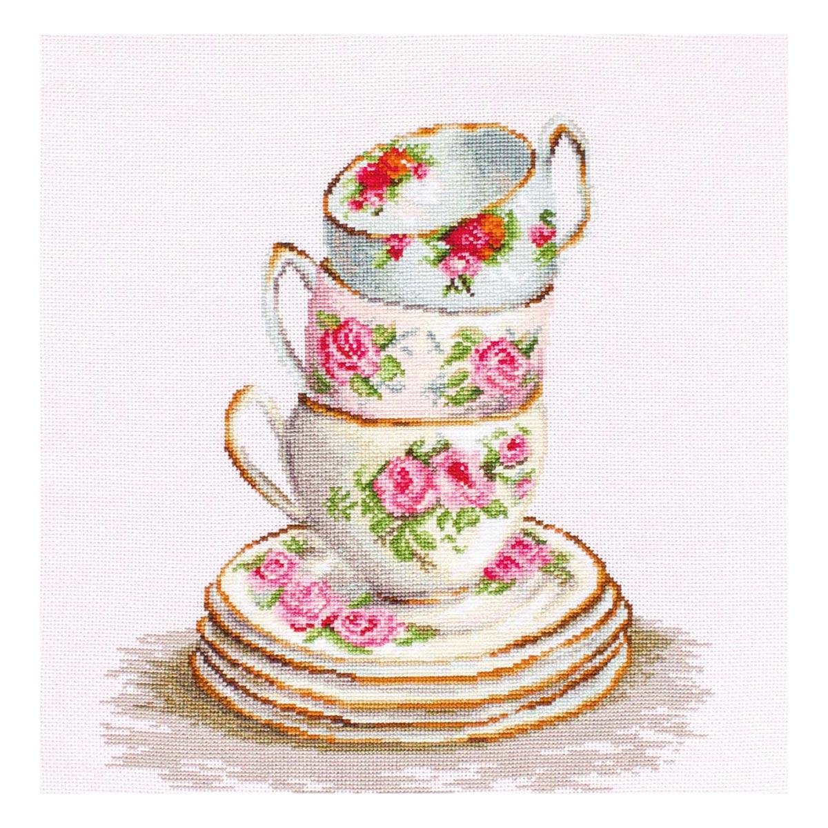 BA2323 Набор для вышивания 'Три чайные чашки' 25*28,5 см, Luca-S