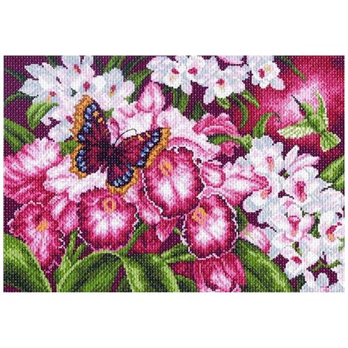 1138 Канва с рисунком 'Матренин посад' 'Орхидеи', 37*49 см