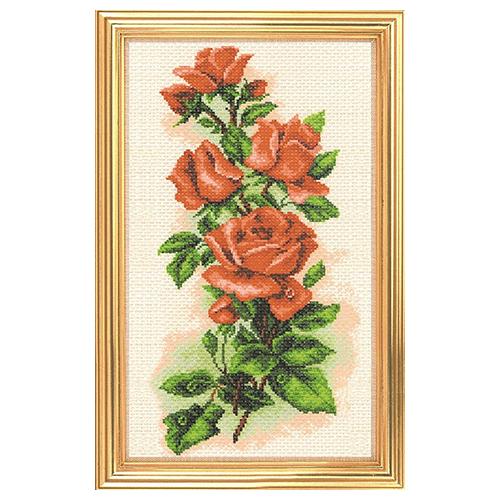 1074 Набор для вышивания 'Матренин Посад' 'Алые розы', 15*37 см