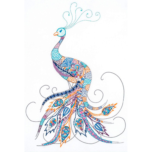 1587 Набор для вышивания Риолис 'Птица удачи' 21*30 см