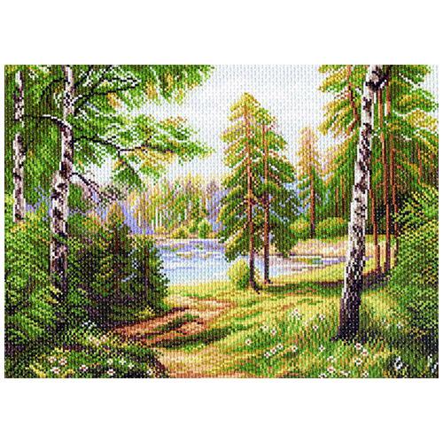 1139 Канва с рисунком 'Матренин посад' 'Дивная пора', 37*49 см