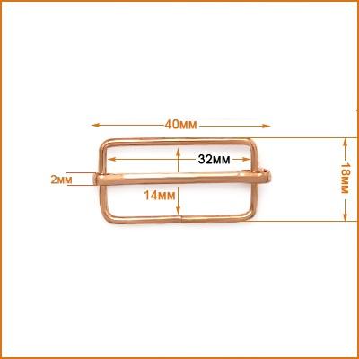 ГДЖ969-2 Рамка-регулятор 32мм ушко (18*40мм), золото цв.02