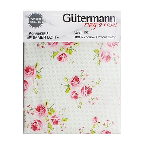 647012 Ткань коллекция 'Summer Loft', 48*50см, 100% хлопок Гутерманн