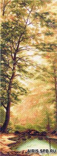 1359 Канва с рисунком Матренин Посад 'Дыхание осени' 40*90см
