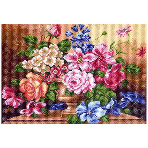 1141 Канва с рисунком 'Матренин посад' 'Цветочный вальс', 37*49 см