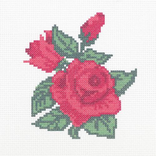 ПК-173 Набор (рис/канв.мулине) Hobby&Pro 'Бархатные розы' 22*22см