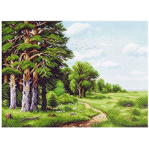 1145 Канва с рисунком 'Матренин посад' 'Лесная окраина', 37*49 см