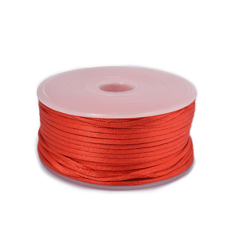 Шнур TBY атласный круглый 2мм цв.3095 красный уп.50м, BTC23095