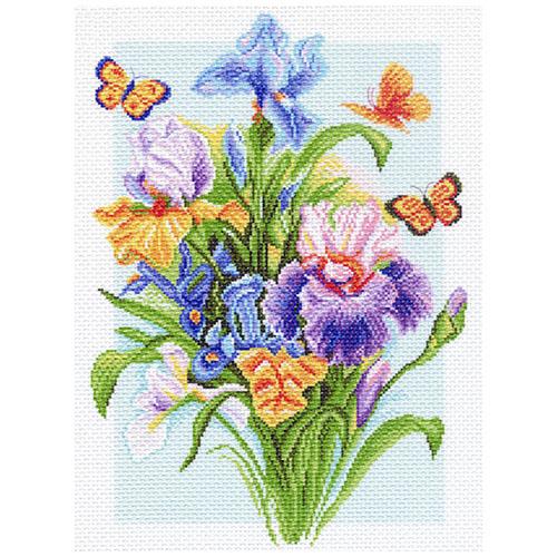 1181 Канва с рисунком 'Матренин посад' 'Весенняя радуга', 37*49 см