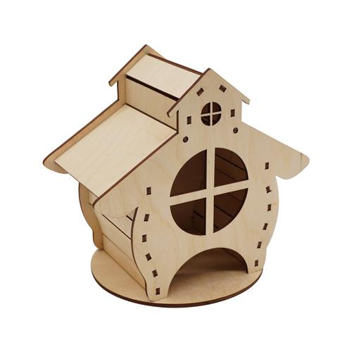 L-944 Деревянная заготовка Чайный домик 'Избушка' 13,5*18*16,5см Астра
