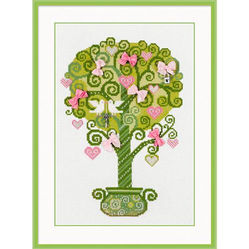 1295 Набор для вышивания Riolis 'Дерево счастья', 21*30 см