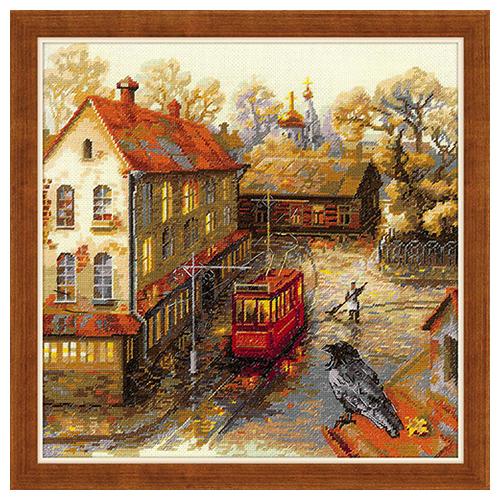 1676 Набор для вышивания Риолис 'Теплая осень' 30*30см