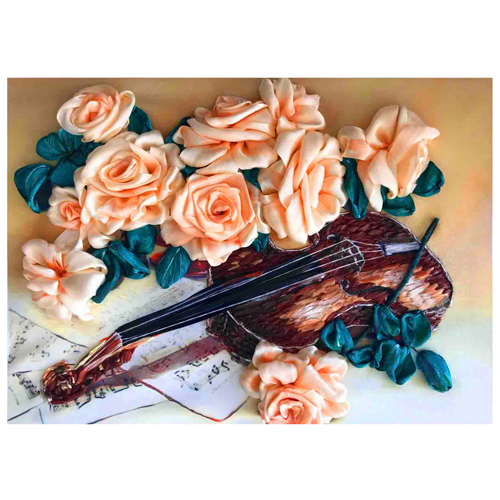 КЛ(л)-3023 Набор для вышивания лентами 'Грация и музыка' 25* 32,5 см